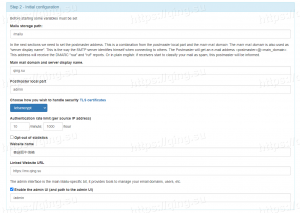 设置Mailu路径与管理员信息